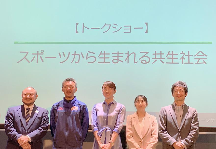 左から初瀬、葭原さん、田中さん、上村さん、佐藤さんの写真