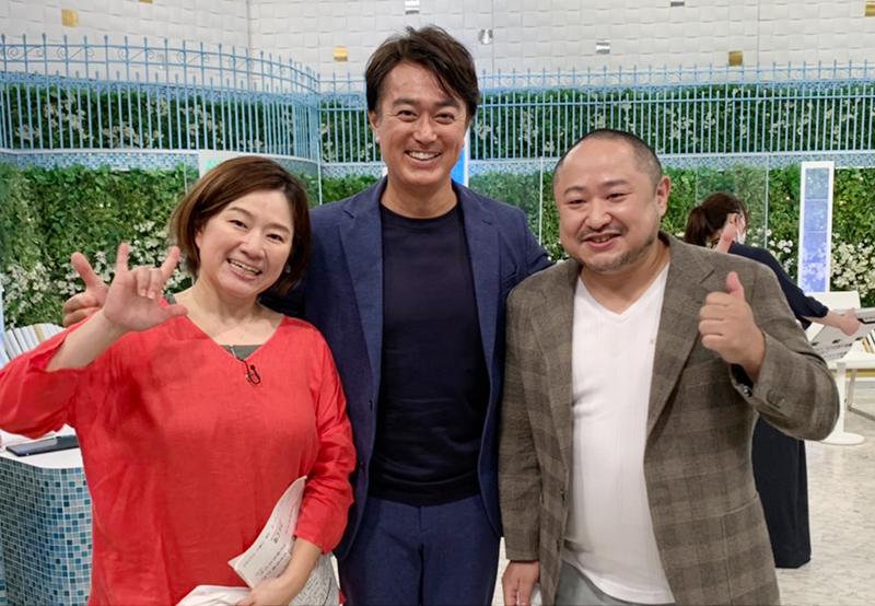 花島良子さん(左)、石黒賢さん(中央)、代表・初瀬勇輔(右)