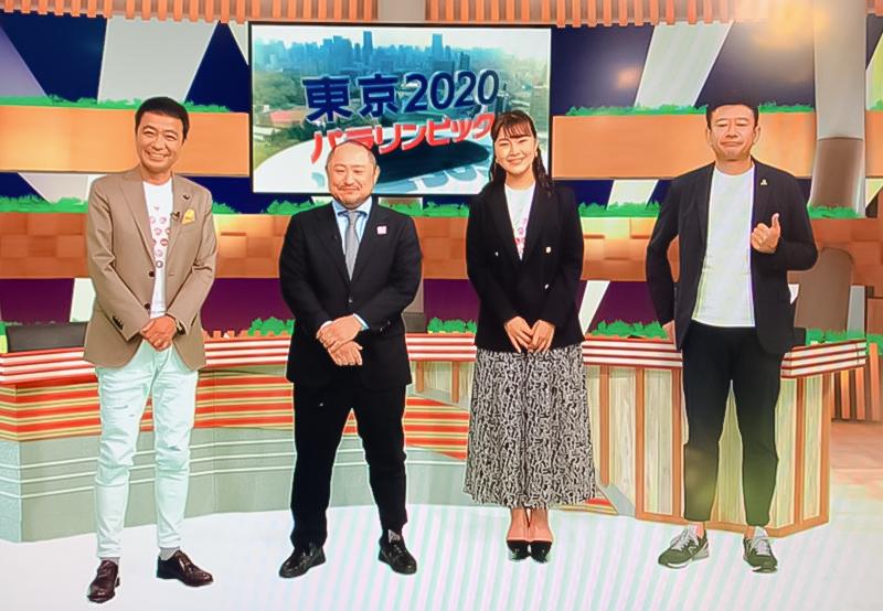 左から、中山秀征さん、代表・初瀬勇輔、村上佳菜子さん、矢野武さん。